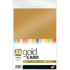 A4 Gold & Silver Card